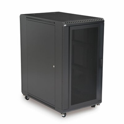 Linier Convex and Vented Doors Server Cabinet Size: 22U