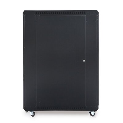 Linier Glass and Solid Doors Server Cabinet Size: 22U