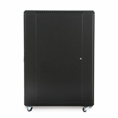 Linier Glass and Solid Doors Server Cabinet Size: 27U