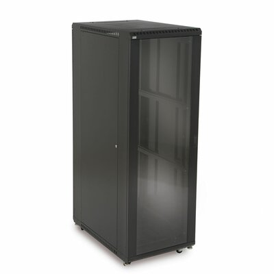 Linier Glass and Glass Doors Server Cabinet Size: 37U