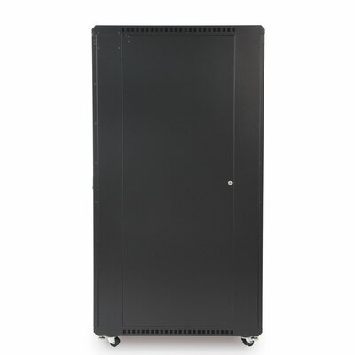 Linier Glass and Solid Doors Server Cabinet Size: 37U