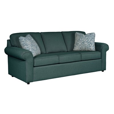 Bulfinch Sofa Body Fabric: Grande Ocean, Pillow Fabric: Stella Pewter