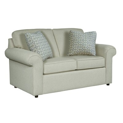 Bulfinch Loveseat Body Fabric: Grande Linen, Pillow Fabric: Stella Navy