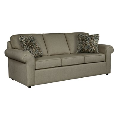 Bulfinch Sofa Body Fabric: Grande Leather, Pillow Fabric: Stella Navy