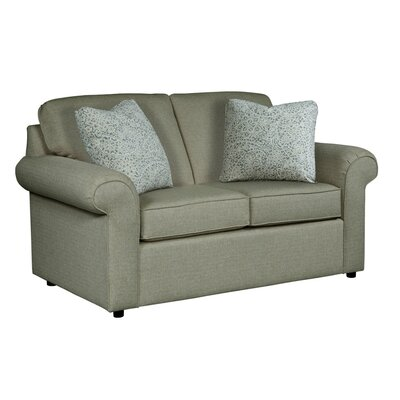 Bulfinch Loveseat Body Fabric: Grande Pewter, Pillow Fabric: Stella Navy