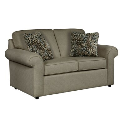 Bulfinch Loveseat Body Fabric: Grande Leather, Pillow Fabric: Kingdom Navy