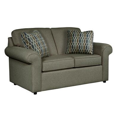 Bulfinch Loveseat Body Fabric: Grande Steel, Pillow Fabric: Feathers Linen