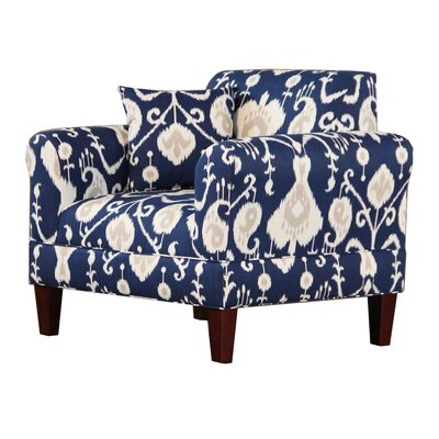 Briley Arm Chair Color: Navy
