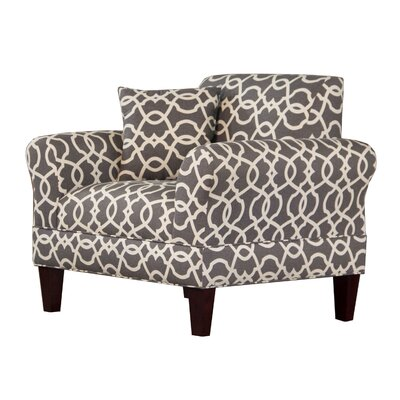 Briley Arm Chair Upholstery: Pewter