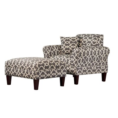 Briley Armchair and Ottoman Finish: Emory Pewter