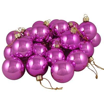 Shiny Glass Ball Christmas Ornament Color: Pink Lollipop