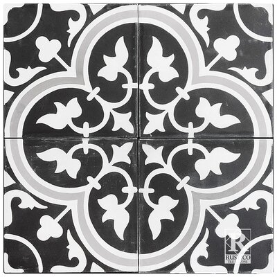 8 x 8 Roseton A Cement Tile (Set of 4)