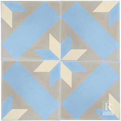 8 x 8 Estrella Cement Tile (Set of 4)