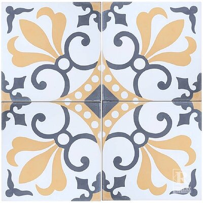 8 x 8 Thames Cement Decorative Concrete Tile (Set of 4)