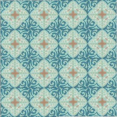 8 x 8 Espanola Cement Decorative Concrete Tile (Set of 4)