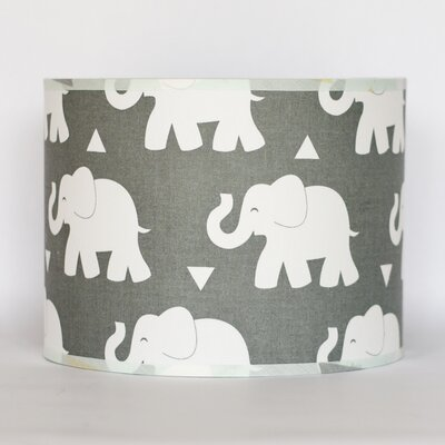 Elephant 43 Drum Lamp Shade