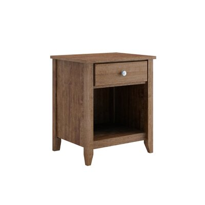 Hastings 1 Drawer Nightstand Color: Java