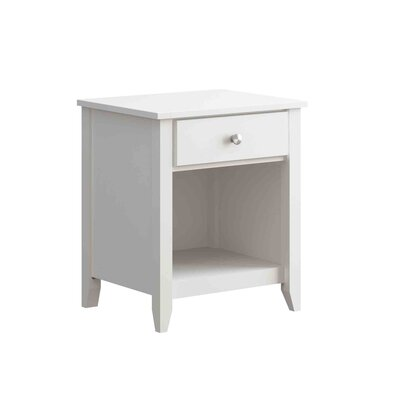 Hastings 1 Drawer Nightstand Color: White