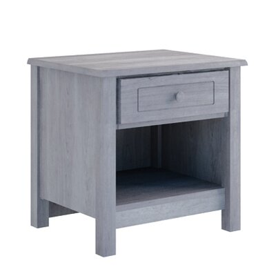 Hampton 1 Drawer Nightstand Color: Storm Grey