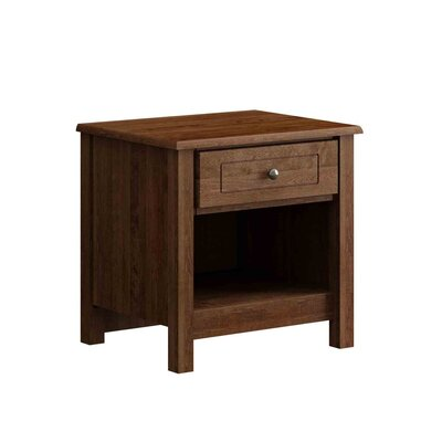 Hampton 1 Drawer Nightstand Finish: Java