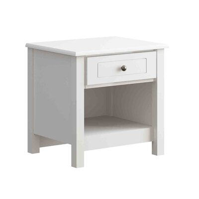 Hampton 1 Drawer Nightstand Color: White