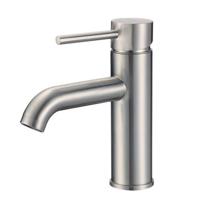 Merlion Single Handle Bathroom Faucet Finish: Brushed Nickel