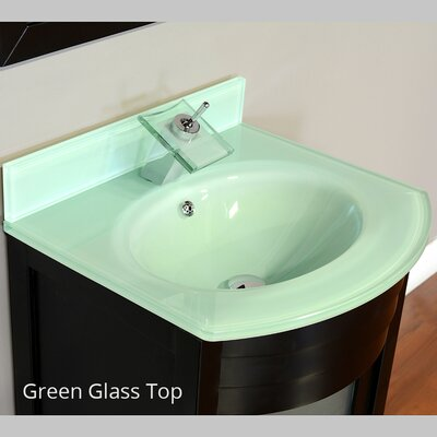 Elite 24 Single Modern Bathroom Vanity Set Base Finish: Espresso, Top Finish: Light Green