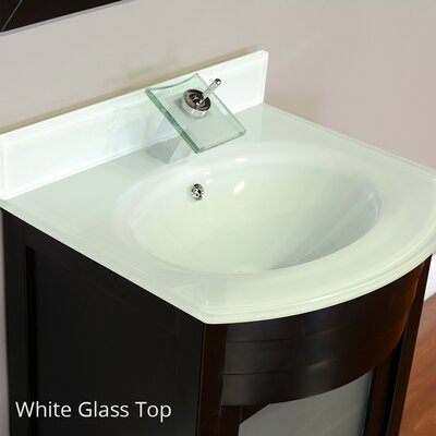 Elite 24 Single Modern Bathroom Vanity Set Base Finish: Espresso, Top Finish: White