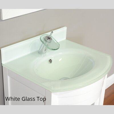 Elite 24 Single Modern Bathroom Vanity Set Base Finish: White, Top Finish: White