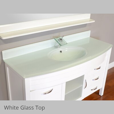 Elite 56 Single Modern Bathroom Vanity Set Base Finish: White, Top Finish: White