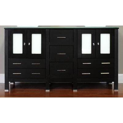 Leeds 60 Modern Single Bathroom Vanity Set Base Finish: Espresso