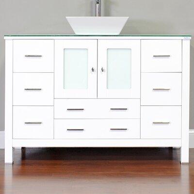 Leeds 48 Modern Single Bathroom Vanity Set Base Finish: White