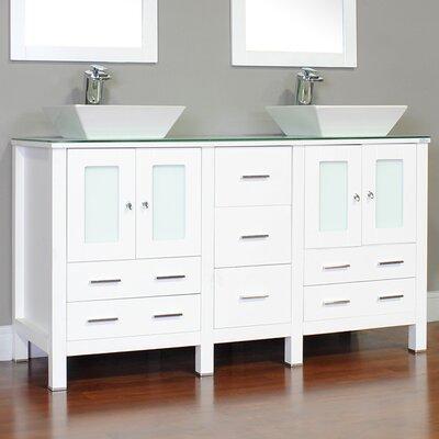Leeds 60 Modern Single Bathroom Vanity Set Base Finish: White