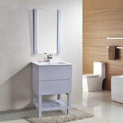 Biscayne 24 Single Bathroom Vanity with Mirror