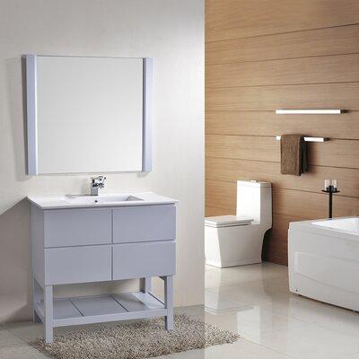 Biscayne 36 Single Bathroom Vanity with Mirror