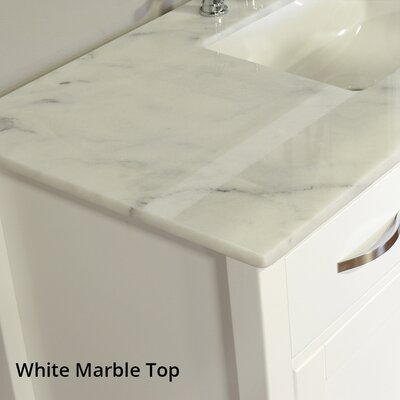 Hudson 60 Double Contemporary Bathroom Vanity Set Top Finish: Carrera White, Base Finish: White