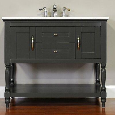 Hampton 42 Single Contemporary Bathroom Vanity Set Base Finish: Gray