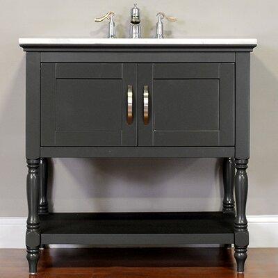 Hampton 30 Single Contemporary Bathroom Vanity Set Base Finish: Gray