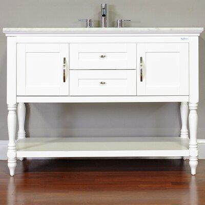 Hampton 48 Single Contemporary Bathroom Vanity Set Base Finish: White