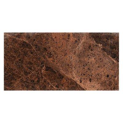 Dark Emperador Polished 23.4 x 46.8 Porcelain Field Tile in Brown