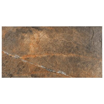 Natura 11.7 x 23.4 Porcelain Field Tile in Dark Brown