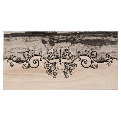 Lava Decor 11.7 x 23.4 Ceramic Field Tile in Anthracite