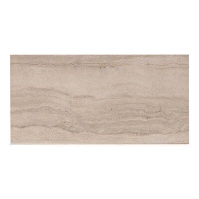 Lava Stone Look 11.7 x 23.4 Porcelain Field Tile in Bianco