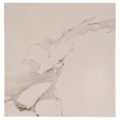 Carrara Polished 15.6 x 15.6 Ceramic Field Tile in White