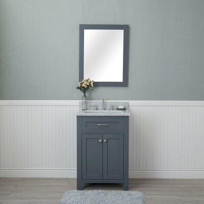 Costin 24 Single Bathroom Vanity Set with Mirror Base Finish: Gray