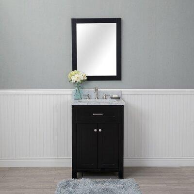 Costin 24 Single Bathroom Vanity Set with Mirror Base Finish: Espresso