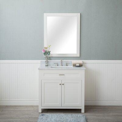 Costin 36 Single Bathroom Vanity Set with Mirror Base Finish: White