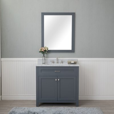 Costin 36 Single Bathroom Vanity Set with Mirror Base Finish: Gray