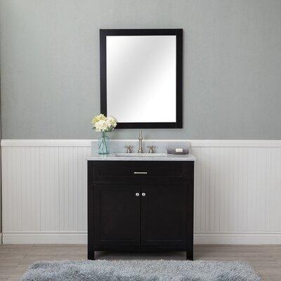 Costin 36 Single Bathroom Vanity Set with Mirror Base Finish: Espresso