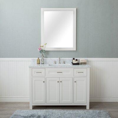Costin 48 Single Bathroom Vanity Set with Mirror Base Finish: White